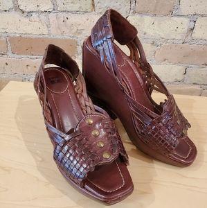 Frye Shoes - Frye Lola Studded Sling Wedge Sandal